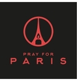 Pray for the Paris France Friday 13th November vector image