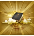 Bible old style background vector image
