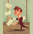 careless inattentive businessman office worker vector image