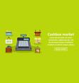 cashbox market banner horizontal concept vector image