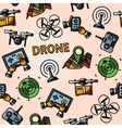 Freehand drone pattern - with box top view vector image