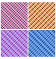 Set of 4 seamless pinstripe pattern vector image