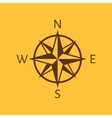 The compass icon Navigation symbol Flat vector image