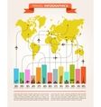 Travel and flight infographics with data icons vector image