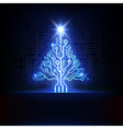 electronic christmas tree vector image