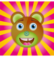 Bear toy poster Vector Image