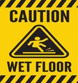 Caution wet floor vector image