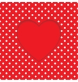 Card heart shape Polka-dot background