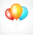 Color glossy multicolored balloons vector image