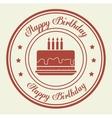 Happy birthday cake dessert vector image