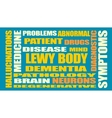 Lewy body dementia relative words list vector image