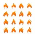 Orange fire icons vector image