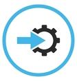 Cog Integration Flat Icon vector image