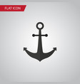 isolated anchor flat icon ship hook vector image
