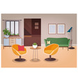 modern interior of living room full of comfortable vector image