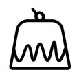 pudding icon vector image