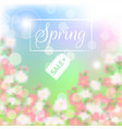spring sale floral background with blossoming vector image