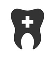 Tooth with cross icon Logo template of tooth vector image