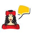 woman talking vector image