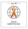 World Hepatitis Day vector image vector image