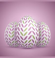 Photorealistic easter egg set vector image