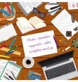 Workspace of the writer translator copywriter vector image
