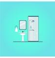 Bathroom cover Modern trendy design vector image
