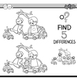 task of differences coloring book vector image