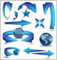 Arrows-3D modern-set vector image