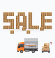 business box sale shape template design vector image