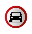 circular contour road sign of car parking area vector image