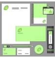 Corporate identity elements mockup vector image