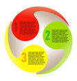 Creative list disc element colorful vector image