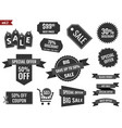 discount coupons set sale banners special offer vector image