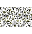 Fishing seamless pattern sketch for your design vector image