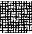 hand drawn grunge ink grid seamless pattern vector image