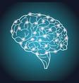 human brain organ process neurons vector image