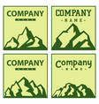 mountain cards silhouette nature outdoor vector image