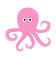 Octopus Zoo alphabet Ocean See underwater life vector image