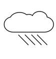 raining icon vector image