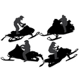 Snowmobiling Silhouette vector image