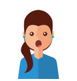 surprised young woman avatar character vector image