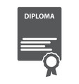 the diploma icon certificate symbol flat vector image