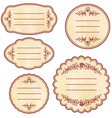 vintage sticker vector image