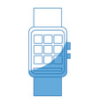 smart watch wearable technology digital display vector image