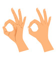 okay gesture agree or perfect symbol vector image