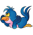 Blue Parrot Laying vector image