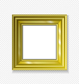 hanging paper sign frame gold picture shadow vector image