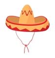 Sombrero icon cartoon style vector image