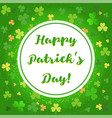 background with clover vector image